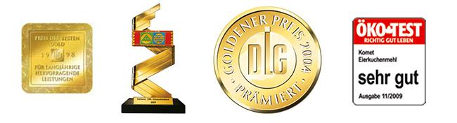 Komet_Auszeichnungen